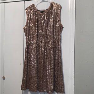 Lane Bryant GOLD sequins dress! Super comfy!